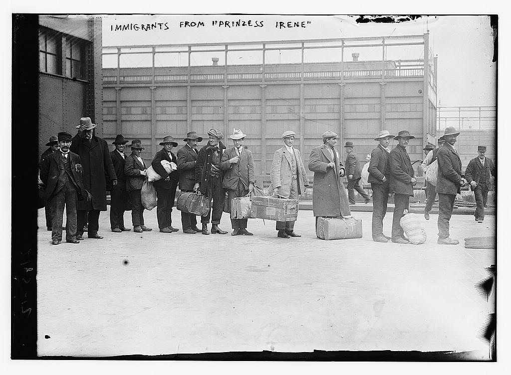 """Immigrants from 'Prinzess Irene.'"" 1911, Courtesy Library of Congress"