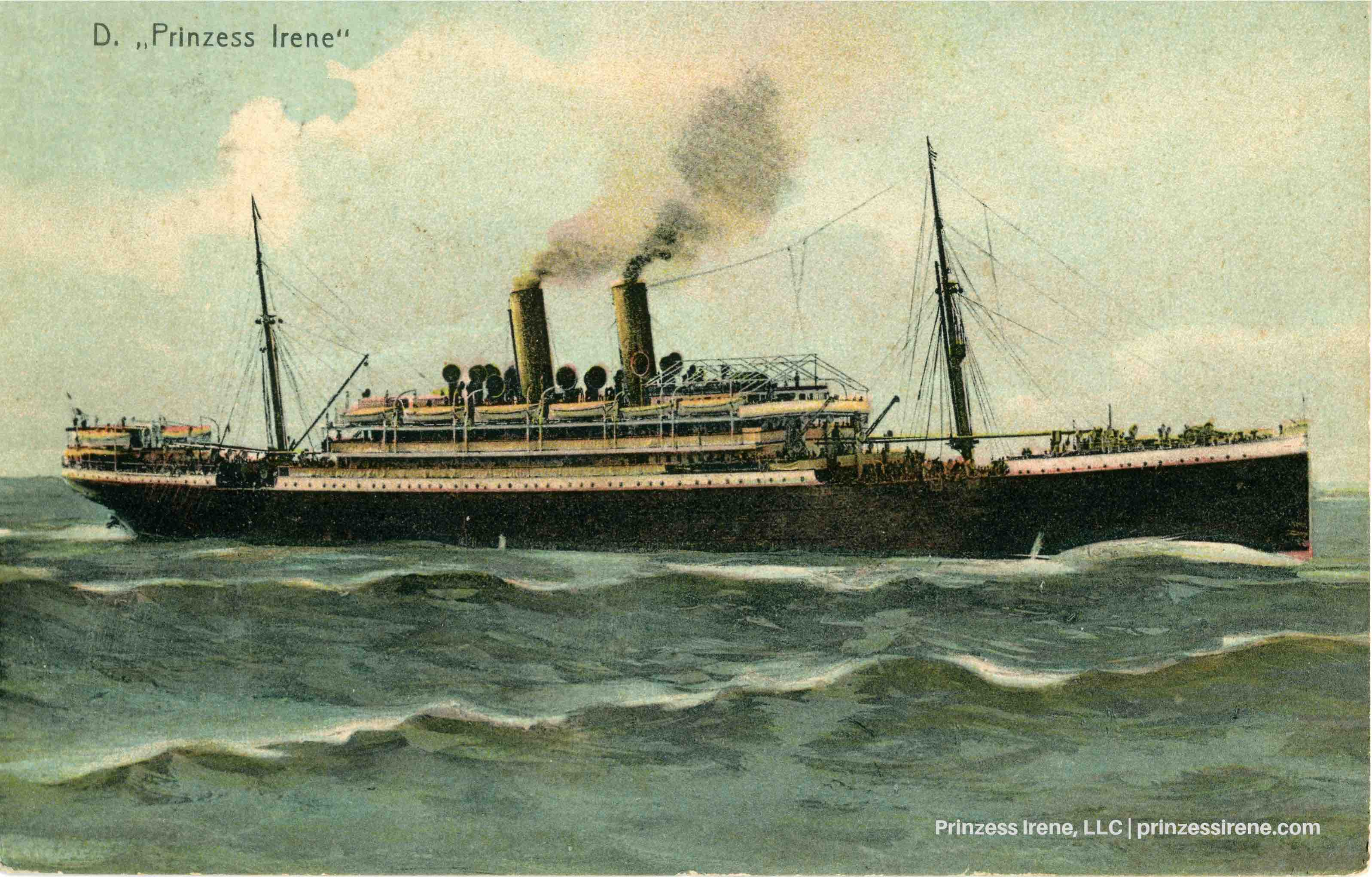 Prinzess Irene. Postcard, dated July 7, 1904.