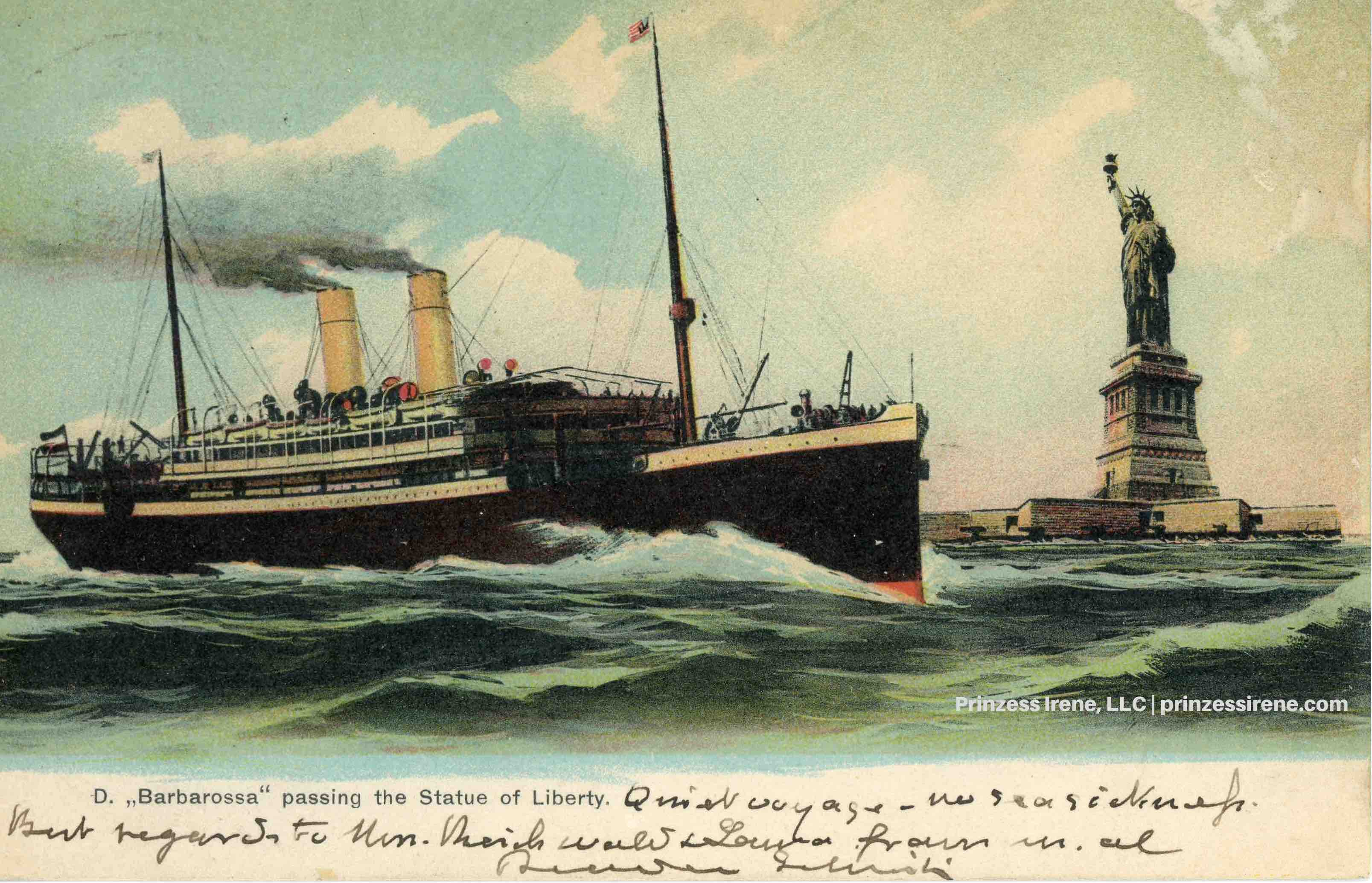 Barbarossa. Postcard, about 1901.