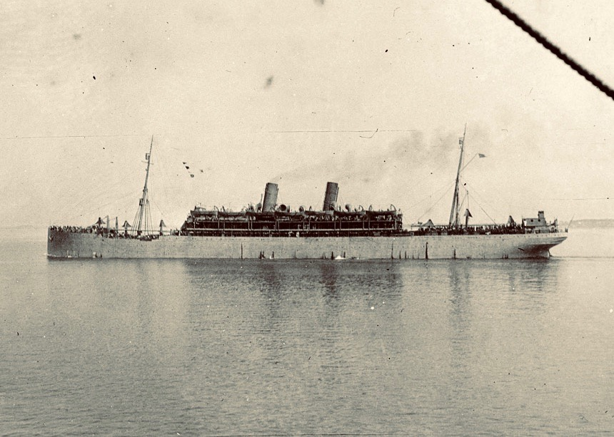 """USS Mercury on 18 May 1918."" Courtesy Shipscribe.com"