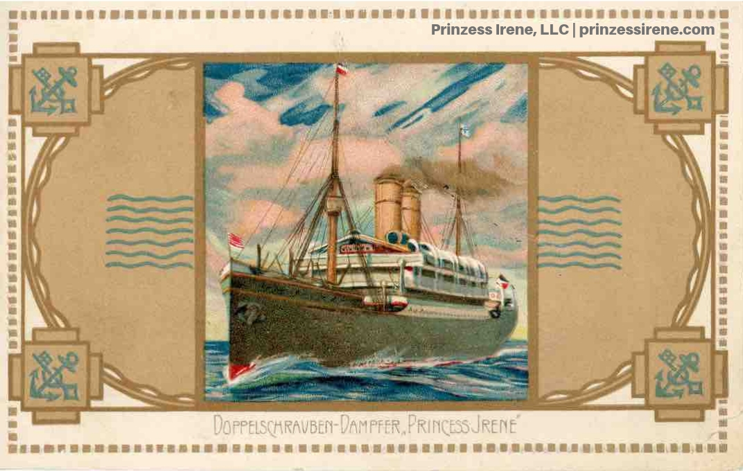Prinzess Irene. Postcard, postmarked July 2, 1911.