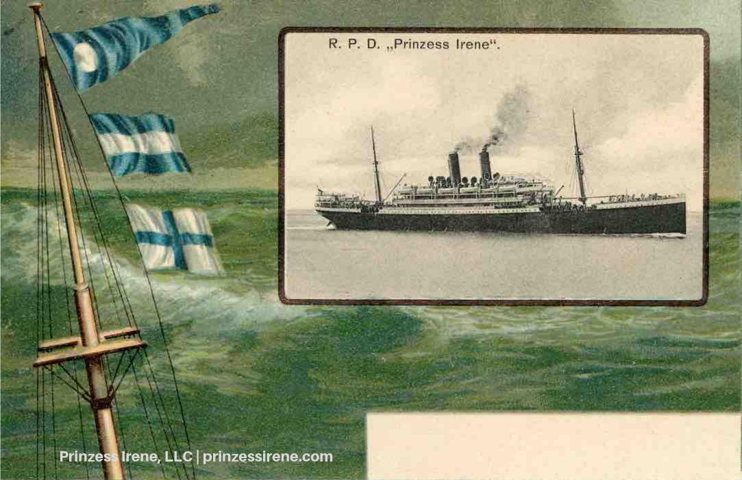 Prinzess Irene. Postcard, about 1902.