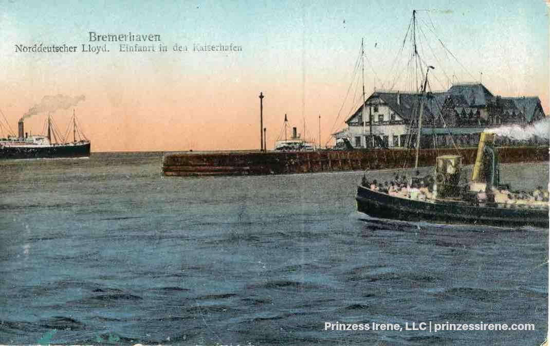 Bremerhaven Port. Postcard, about 1907.