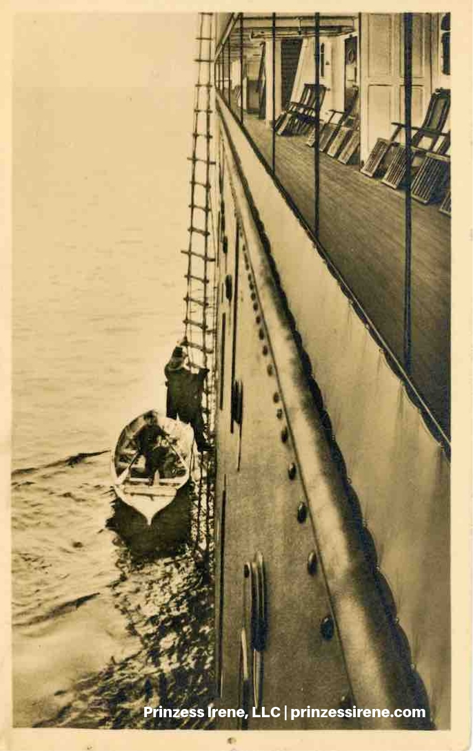 Unidentified NDL ship. Postcard, about 1907.