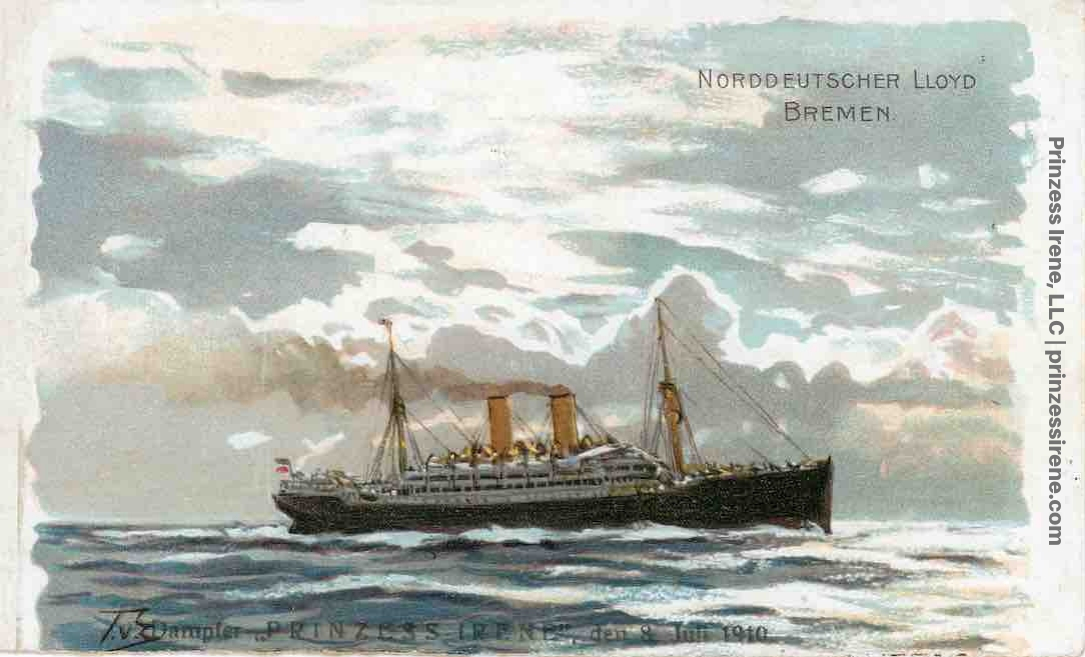 Prinzess Irene. Postcard, postmarked July 8, 1910.