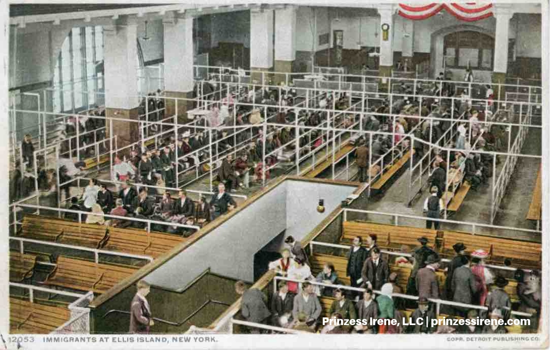Ellis Island. Postcard, postmarked March 17, 1911.