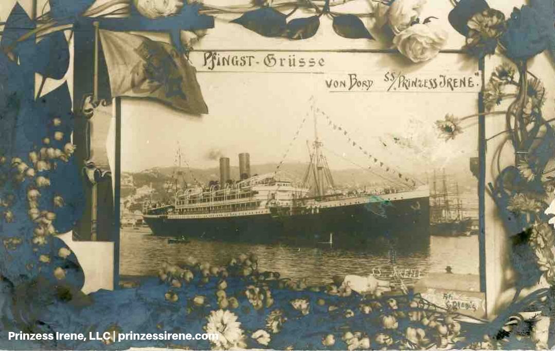Prinzess Irene. Real photo postcard, postmarked January 25, 1910.