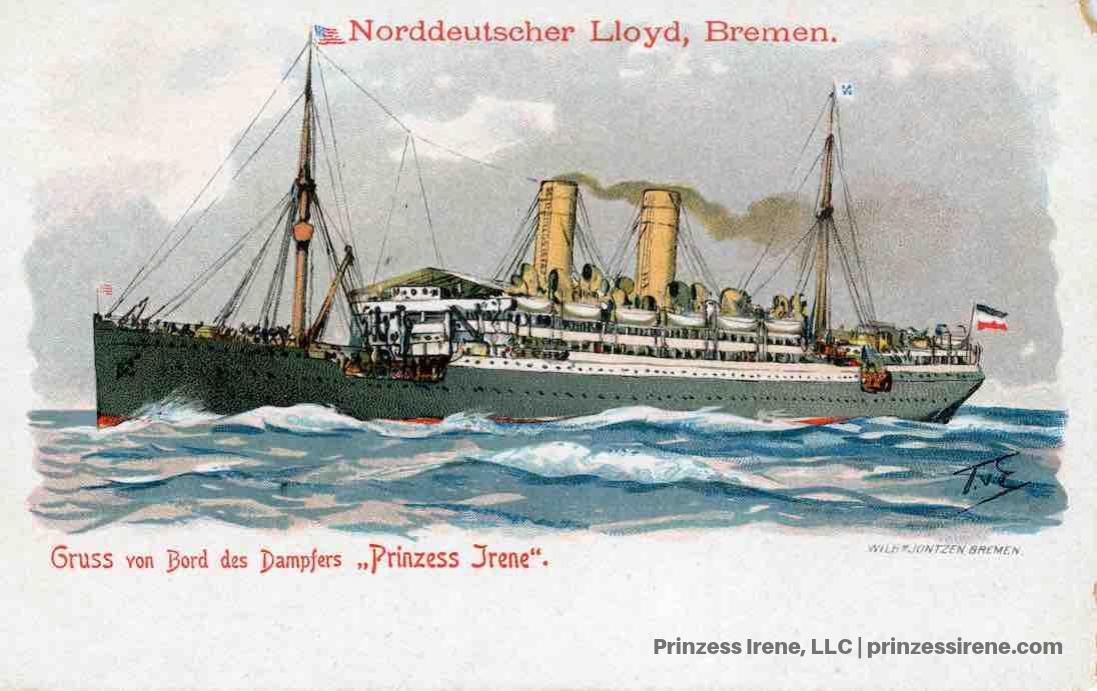 Prinzess Irene. Postcard, about 1907.