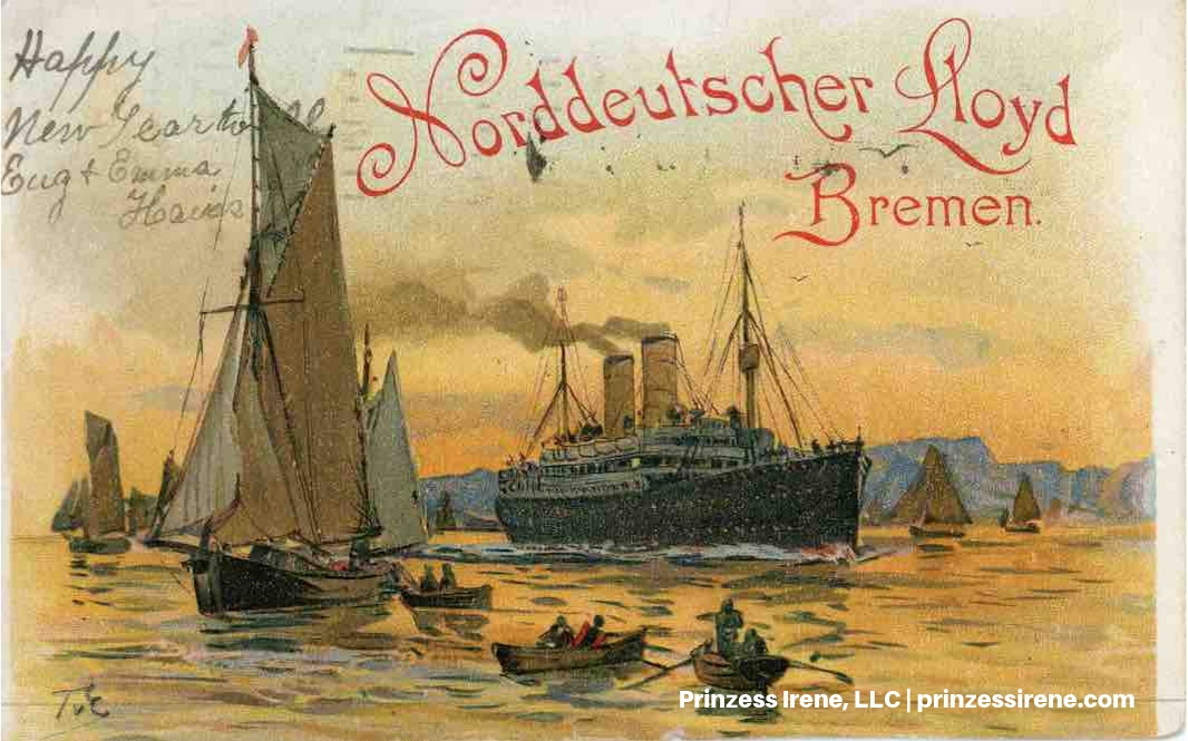 Prinzess Irene. Postcard, postmarked December 30, 1902.