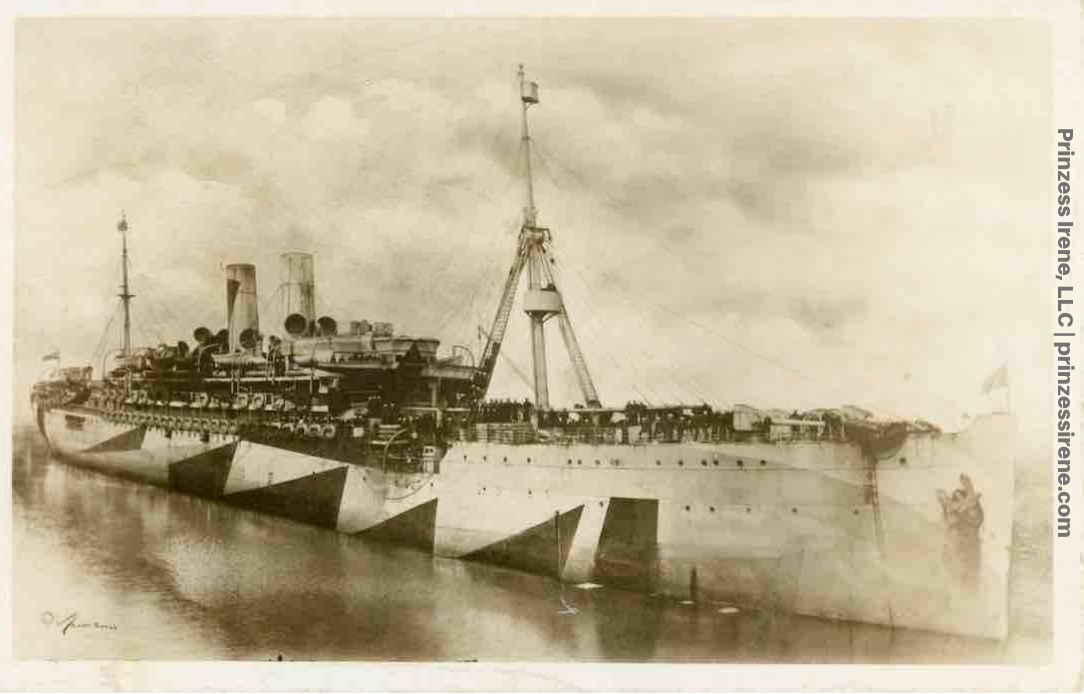 USS Pocahontas. Real photo postcard, 1919.