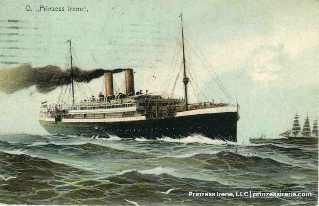 Prinzess Irene. Postcard, postmarked February 29, 1908.
