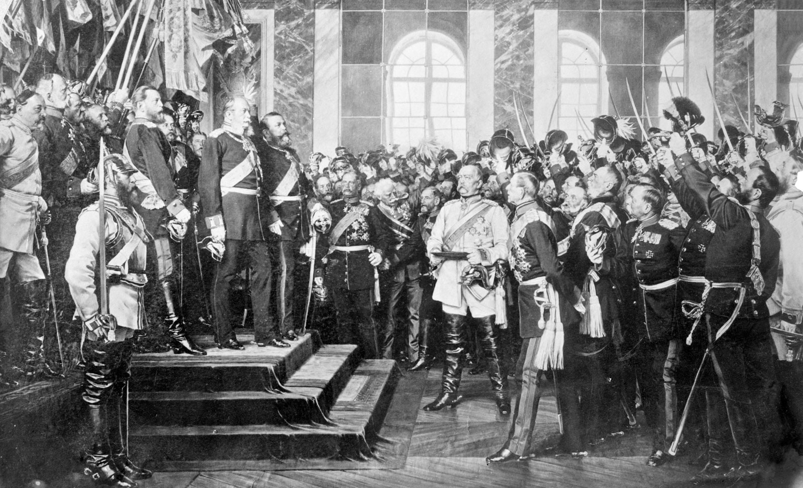 """Crowning of Wilhelm I of Germany."" Courtesy, U.S. Library of Congress."